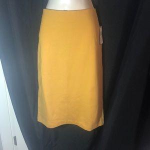 NWT Philosophy Ponte gold zipper pencil skirt